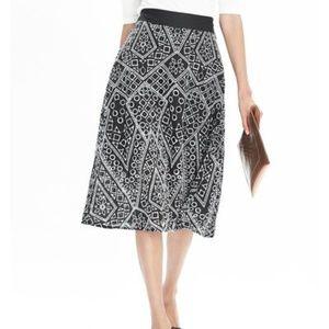 Banana Republic Geo Lace Midi Skirt